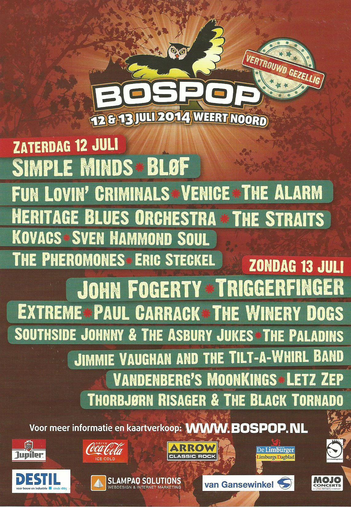 Bospop programme
